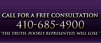 Call for free consultation 301-555-1212; The truth poorly represented will loose